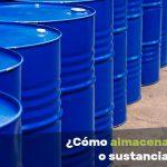 almacenar productos o sustancias químicas